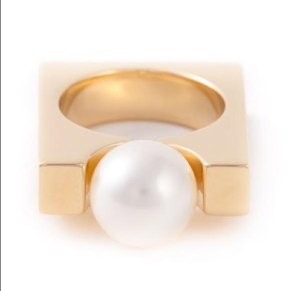 Chloe Jewelry - Chloe Darcey Square Pearl Ring